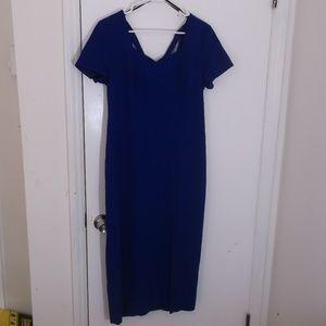 Liz Claiborne Petites Royal Blue Sheath Dress 12 M
